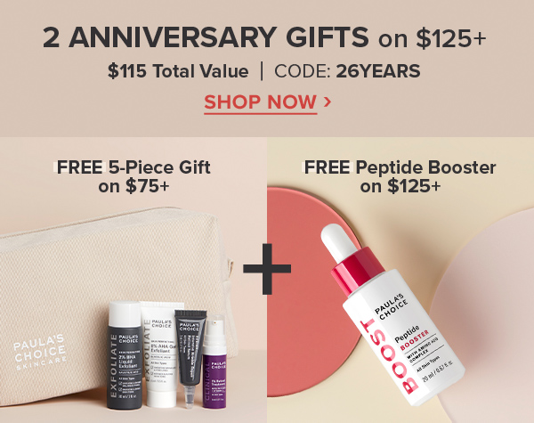 2 Free GIFTS on $125+